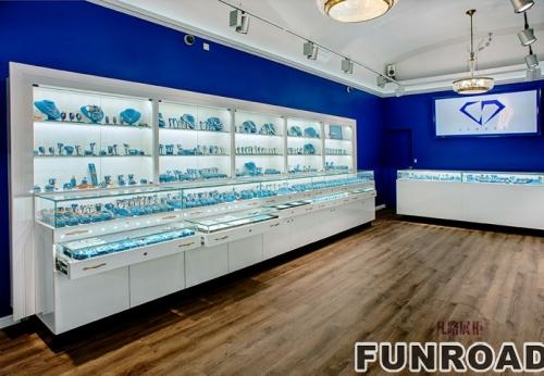 地中海风格展柜店铺-珠宝展柜