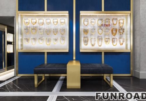 琥珀宝石工艺品展柜-珠宝展柜