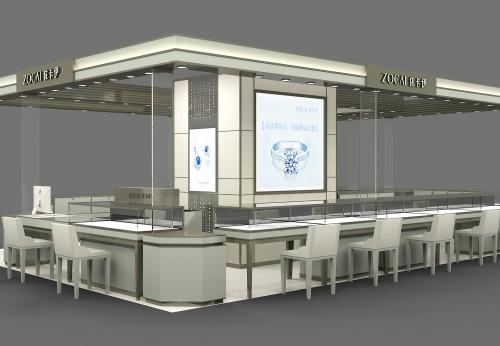 2018年现代3D珠宝亭设计珠宝展柜