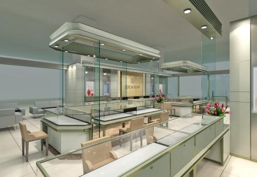 2018年购物中心珠宝亭呈现珠宝玻璃陈列柜
