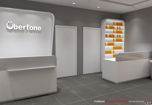 2018年3D手机店设计电子产品展示柜