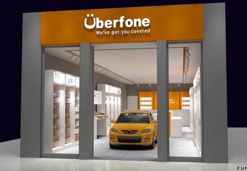 2018年3D手机店室内设计电话架手机展示柜