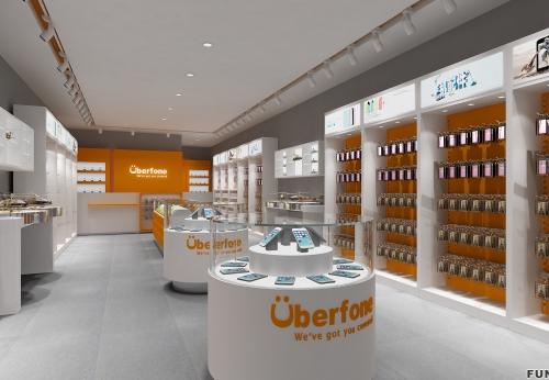 2018年3D手机店设计手机配件货架电话展柜