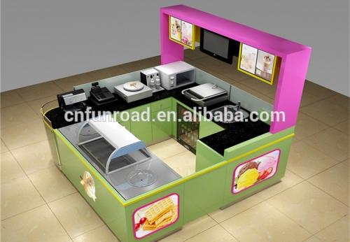 糖果奶茶糕点展示亭展示柜设计制作效果图