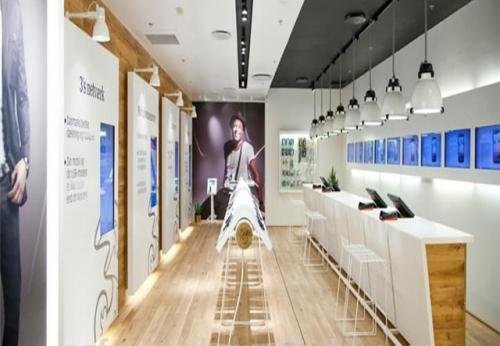 定制装饰设计手机商店灯具展柜