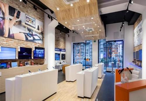 2018年手机零售店灯具展示了中国制造商的内饰表设计