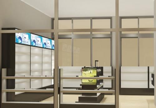 Funroad制造现代风格的书籍化妆品展示架商业家具