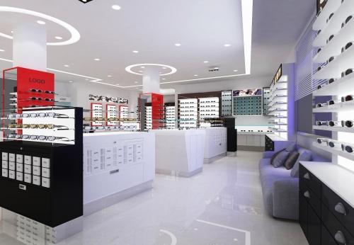定制家具展示柜为眼镜店