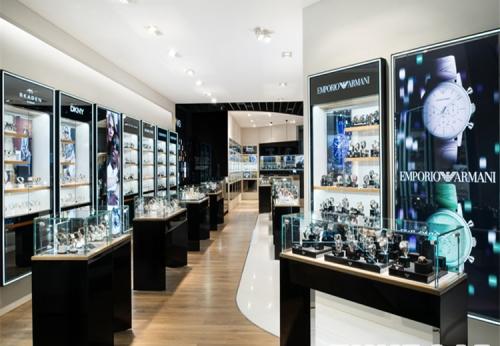 定制高品质手表展示家具手表店设计