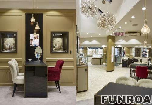 现代温馨风格的展柜 - 珠宝展柜