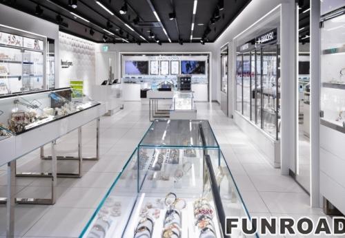 时尚简约风格的手表店展柜