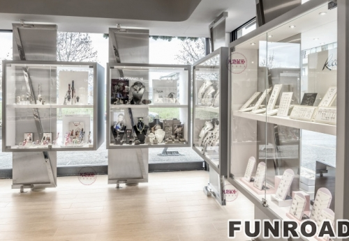现代简约珠宝奢侈品店展示柜
