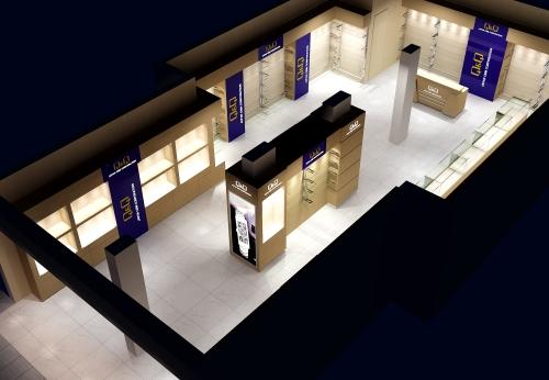 现代木制玻璃展示柜手表店柜台设计