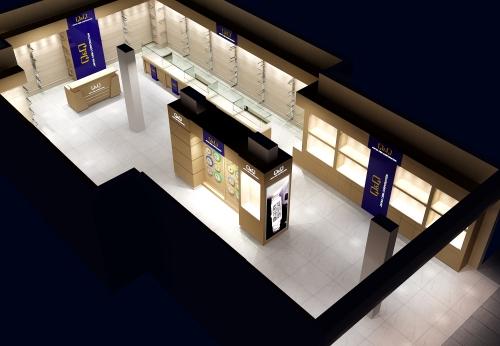 玻璃橱窗木陈列室商店配件手表店展示柜