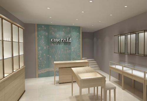 豪华现代珠宝商店展柜内部柜台设计装饰