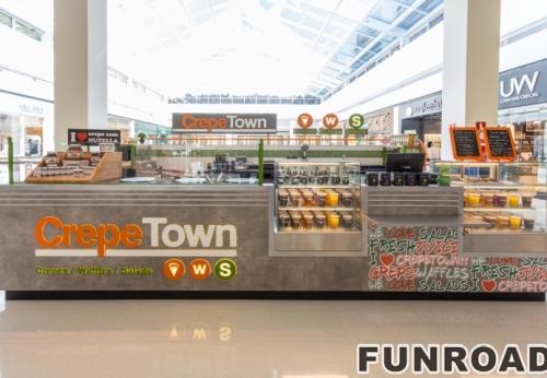 购物中心的食品展柜效果图