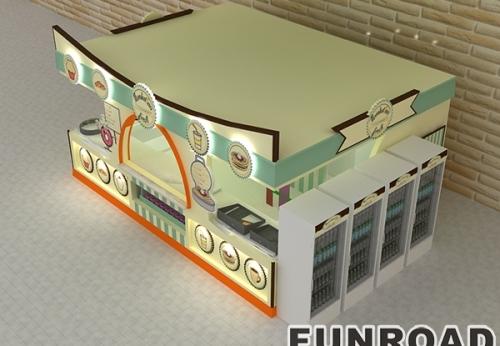 为购物中心定制优雅的咖啡厅商店柜台食品和饮料亭