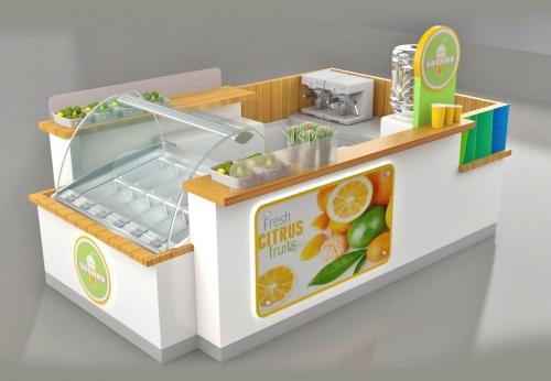 商业零售展柜商场食品亭设计| 快速售货亭| 饮料亭待售