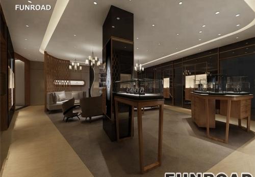 高端木制手表店夹具室内设计