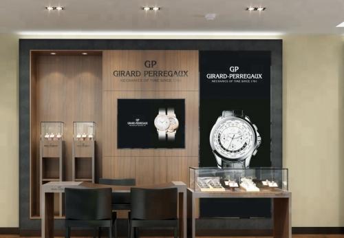现代室内设计手表商店展示柜
