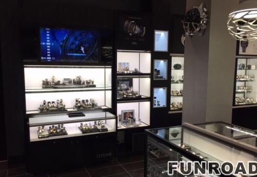 木质和玻璃壁挂式展示柜壁挂式手表展示柜