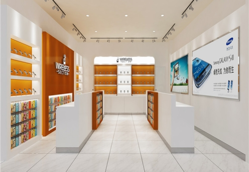手机维修柜台展示柜现代手机配件配件
