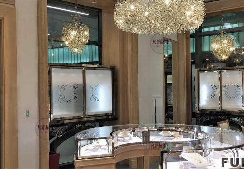高端珠宝店圆形展示柜效果图