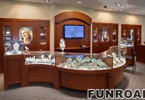 珠宝店展示柜效果图及现场图