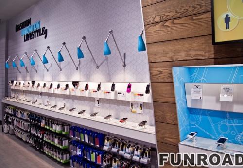 手机展示柜:手机展示柜:金立手机配件店展示架整体定制