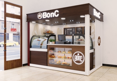 木质糖果面包展示厅玻璃展示柜定制