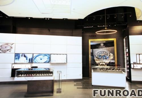 手表奢侈品店展示柜效果图