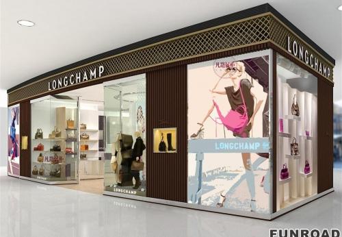 高端服装包包店展示柜案例效果图