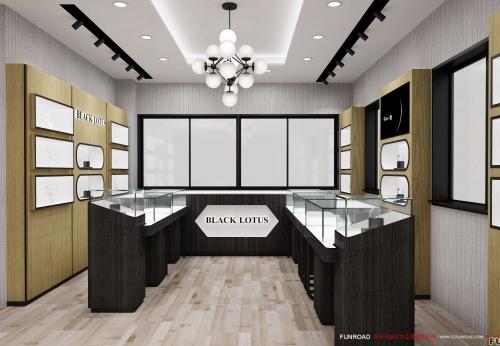 定制化展销钢玻璃便携式珠宝展示盒