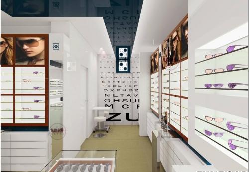眼镜店展示柜设计案例效果图