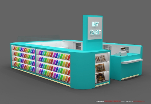 商场专卖店手机数码柜台设计效果图