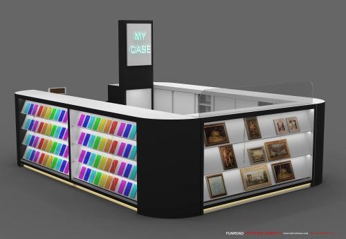 2019新款手机配件柜台2D设计效果图
