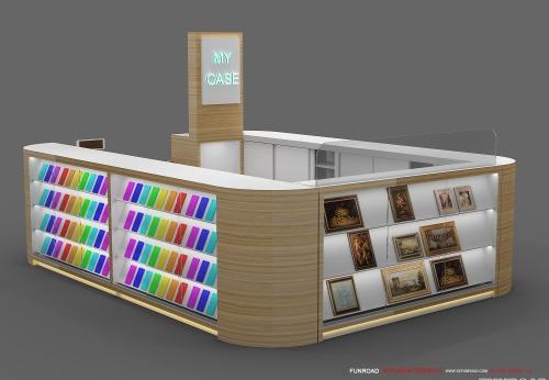 手机配件展示柜台订制设计效果图