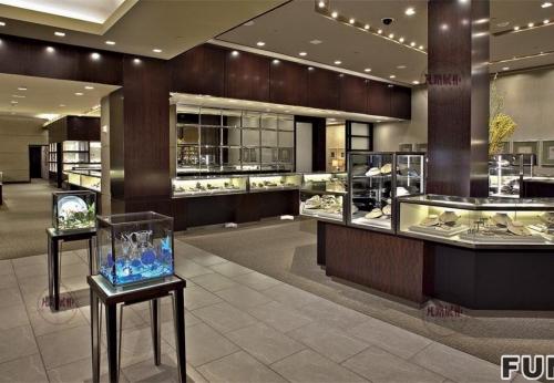 蒂芙尼珠宝展示柜案例效果图
