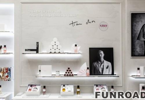 迪奥大理石化妆品展示柜案例效果图