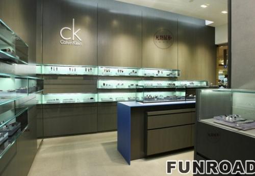 CK手表店展示柜案例效果图