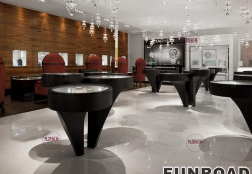多伦多高端珠宝展示柜案例效果图