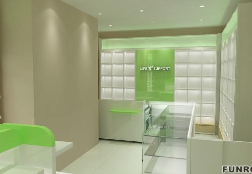 养生馆保健品产品展示柜定制