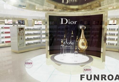 免税店化妆品展示柜案例效果图