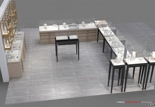珠宝店装饰家具室内设计橱窗的时尚制作