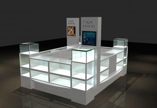 时尚现代零售展示亭商场珠宝