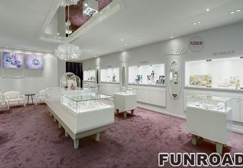 高档珠宝店展示柜案例