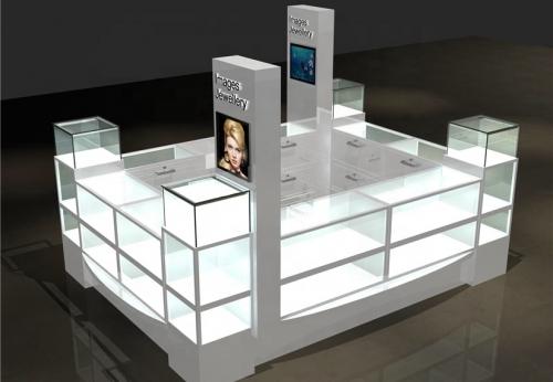 高品质购物中心木制珠宝展示亭