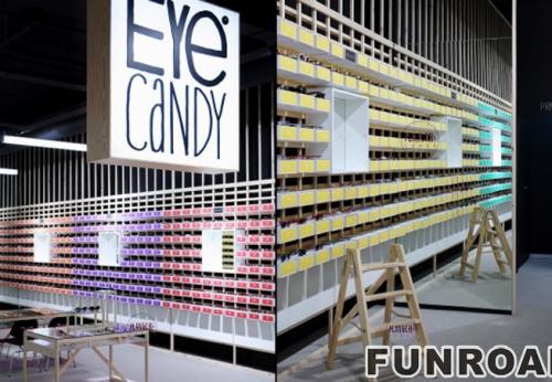 不锈钢眼镜店展示柜案例