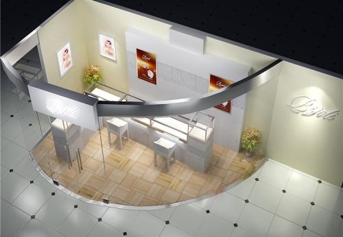珠宝玻璃展示柜/落地式玻璃柜