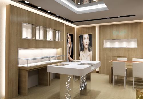 中密度纤维板铁框材料珠宝展示柜